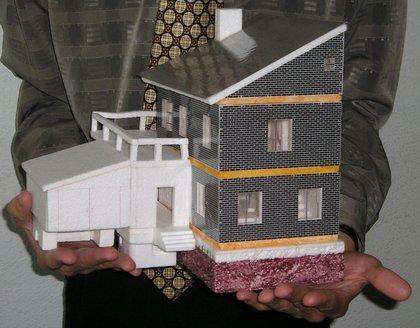 Как из бумаги сделать кирпичный дом